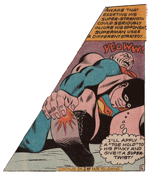 Superman Toe Hold